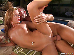 Boyfrend massages body of legal age puerile cutie previous to banging her so hard