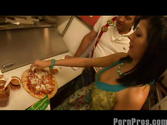 Smoking sexy and very taut eighteen year old Kenna Kane needs to earn a not many additional bucks to go to college. So that babe got a job at a pizza parlor and gets her tips blowing her manager's sausage! No Thing in the manner of pounding more than just dough in the kitchen...